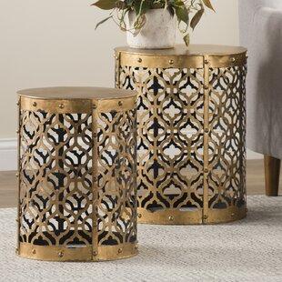 Savings Whitt 2 Piece End Table Set by Willa Arlo Interiors