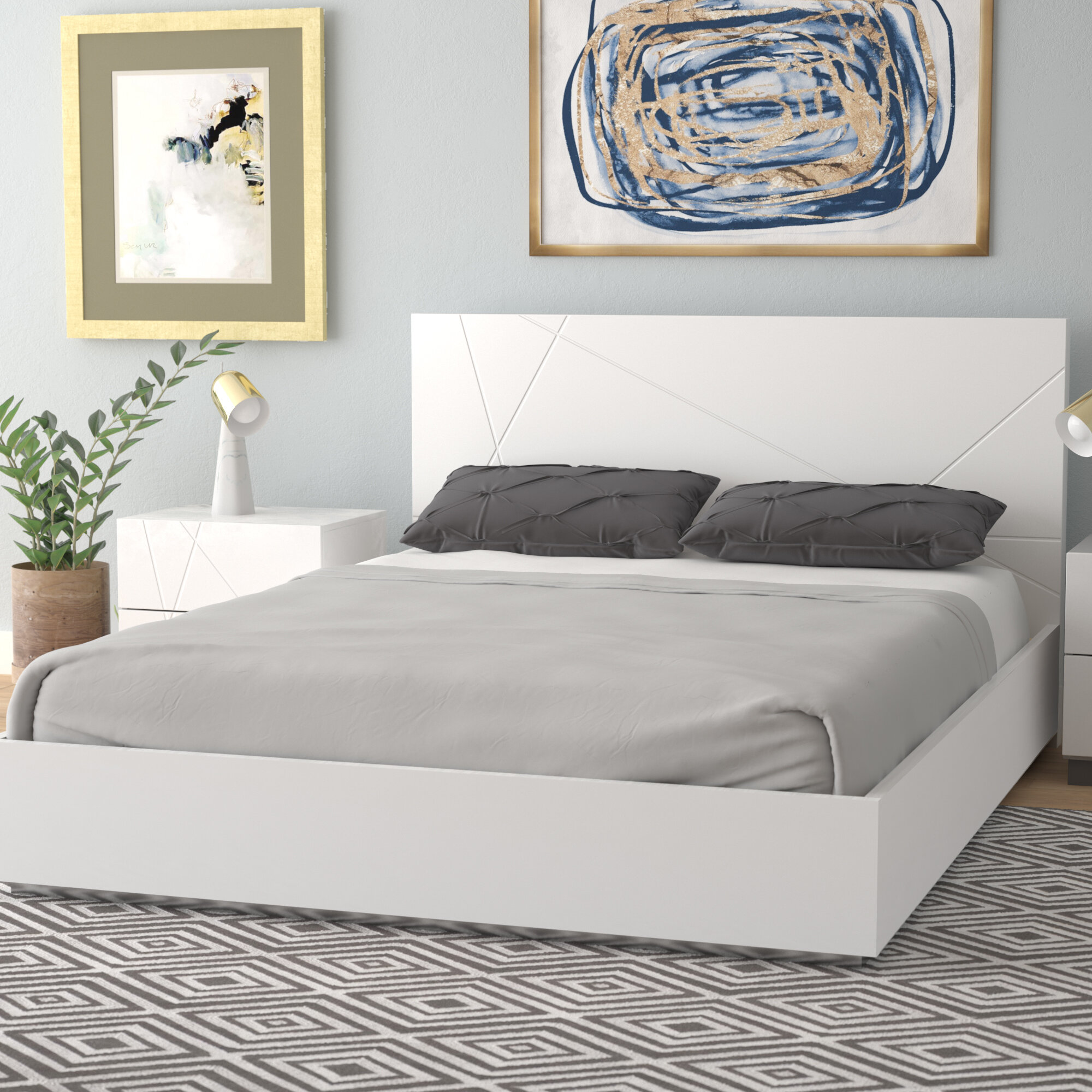 Allmodern Caroline Platform Bed Reviews Wayfair Ca