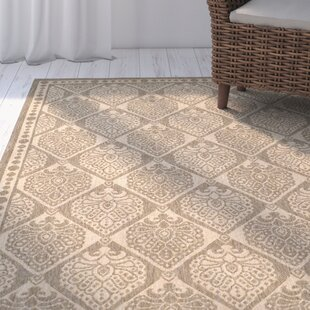 Romola Coffee/Sand Checked Indoor/Outdoor Area Rug