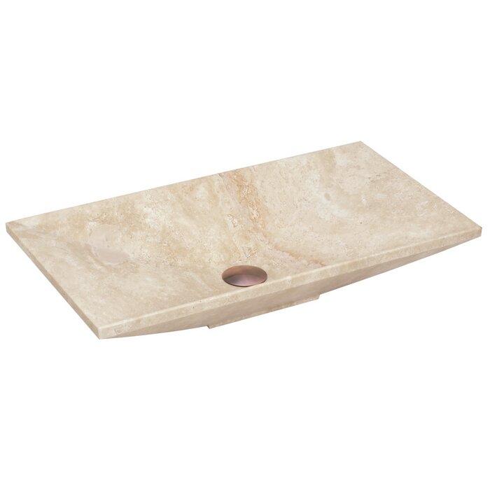 Above Counter Stone Rectangular Vessel Bathroom Sink