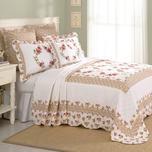 Laurel and Mayfair Luise Cotton Quilted Bedspread