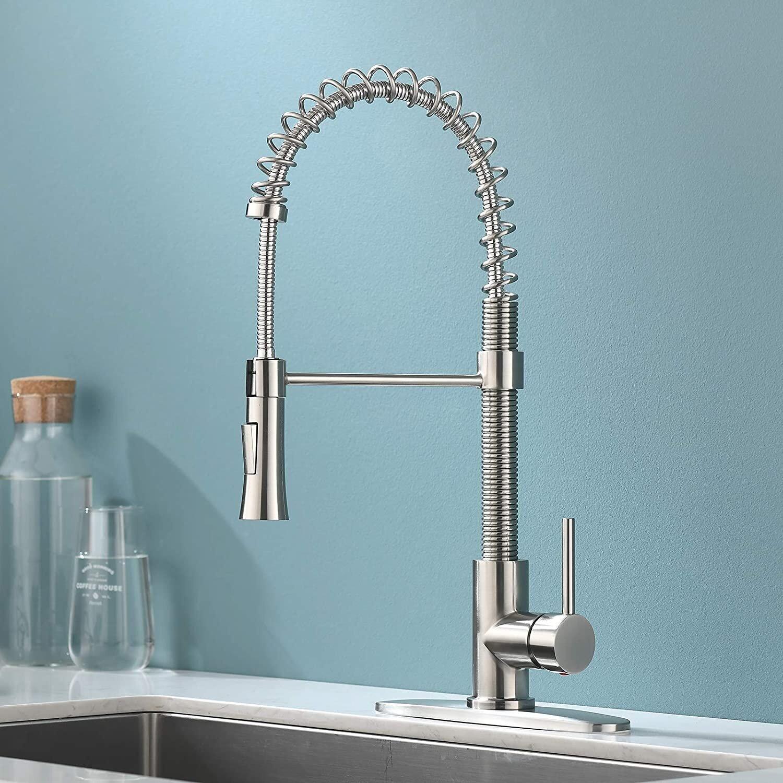 Friho Pull Down Single Handle Kitchen Faucet Reviews Wayfair