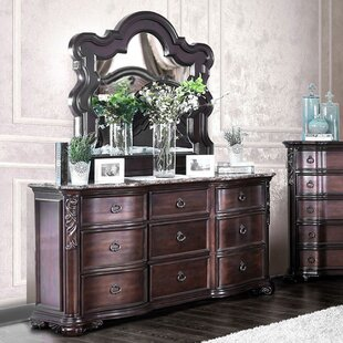 Trevin 9 Drawer Double Dresser with Mirror