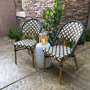 Kingery Bamboo Stacking Patio Dining Chair