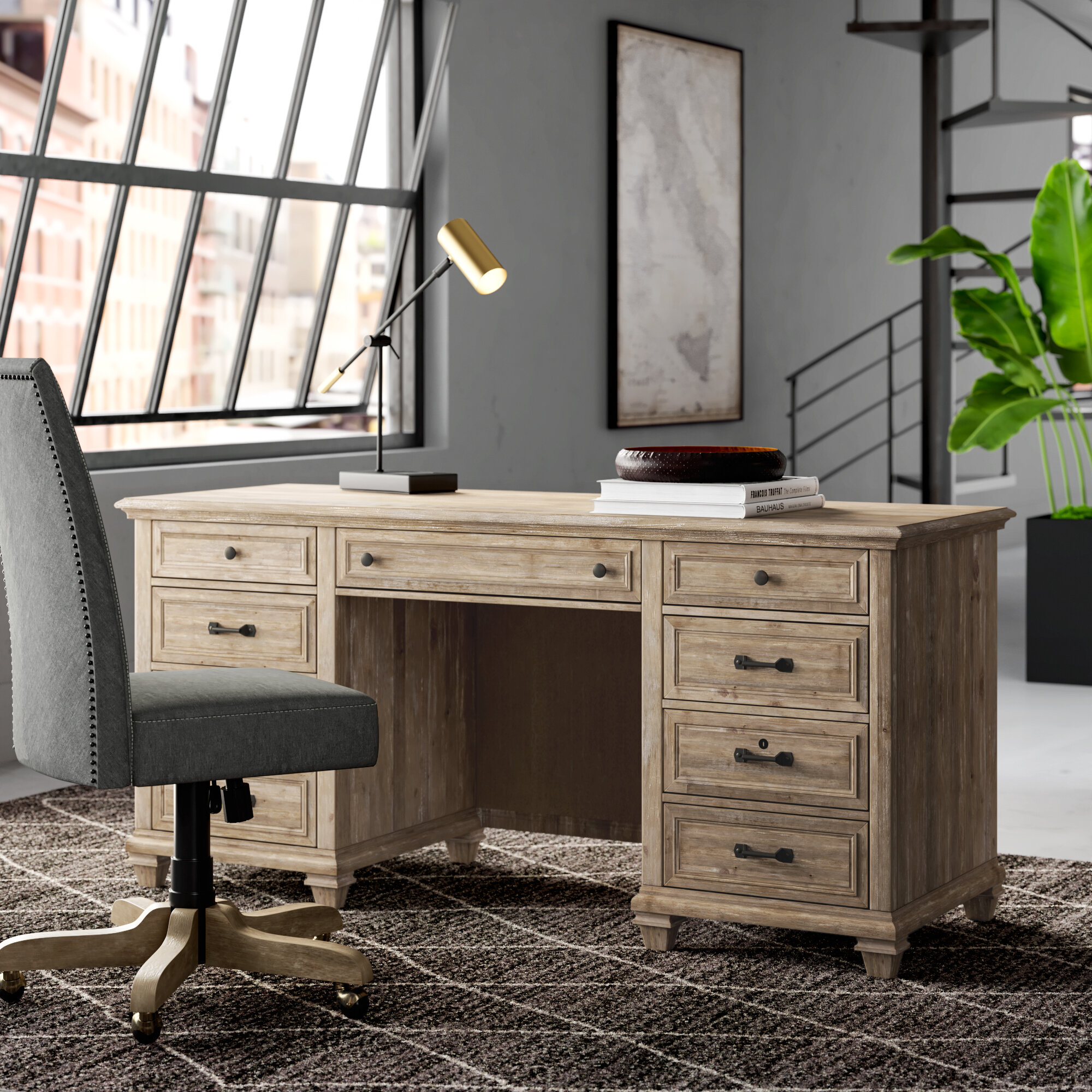 Executive Pine Desks You Ll Love In 2021 Wayfair