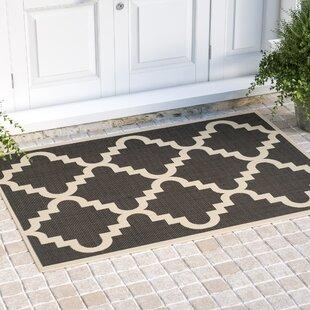 Compare & Buy Short Ashton Black/Beige Indoor/Outdoor Area Rug ByWinston Porter