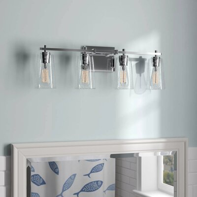Muniz 4-Light Vanity Light Beachcrest Home