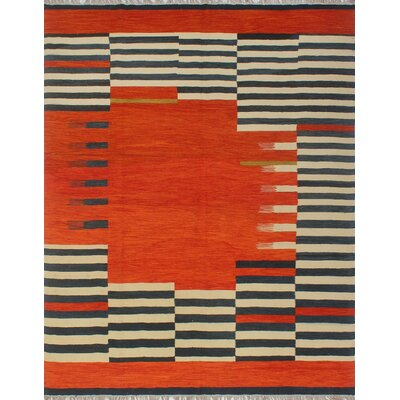 One Of A Kind Dickie Hand Knotted Wool Rust Area Rug Bloomsbury Market