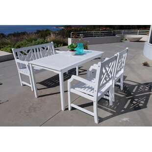 Darby Home Co Mahler 4 Piece Dining Set