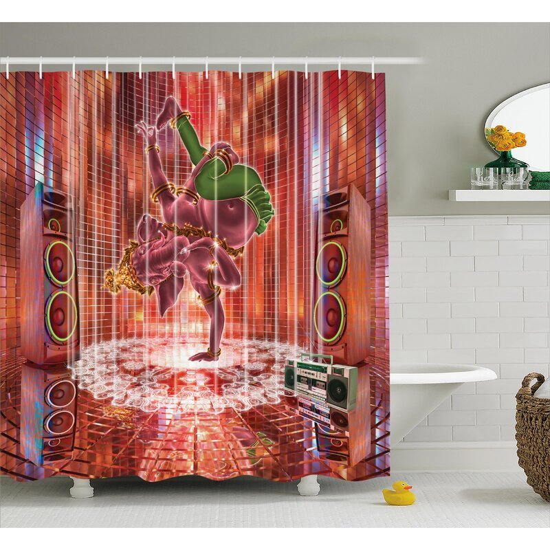 Ashmead Animal Indian Elephant God Dancing Rocking The Dance Floor With Its Meditating Moves Print Shower