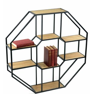 Ivor Iron And Pine Wood Octagonal Unit Wall Shelf