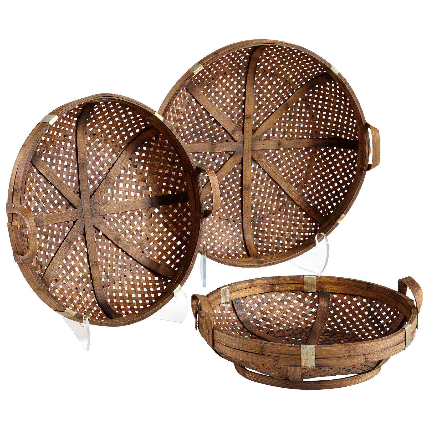 Cestino 3 Piece Basket Set By Cyan Design