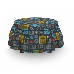 Audio Equipment Ottoman Slipcover (Set Of 2) By East Urban Home