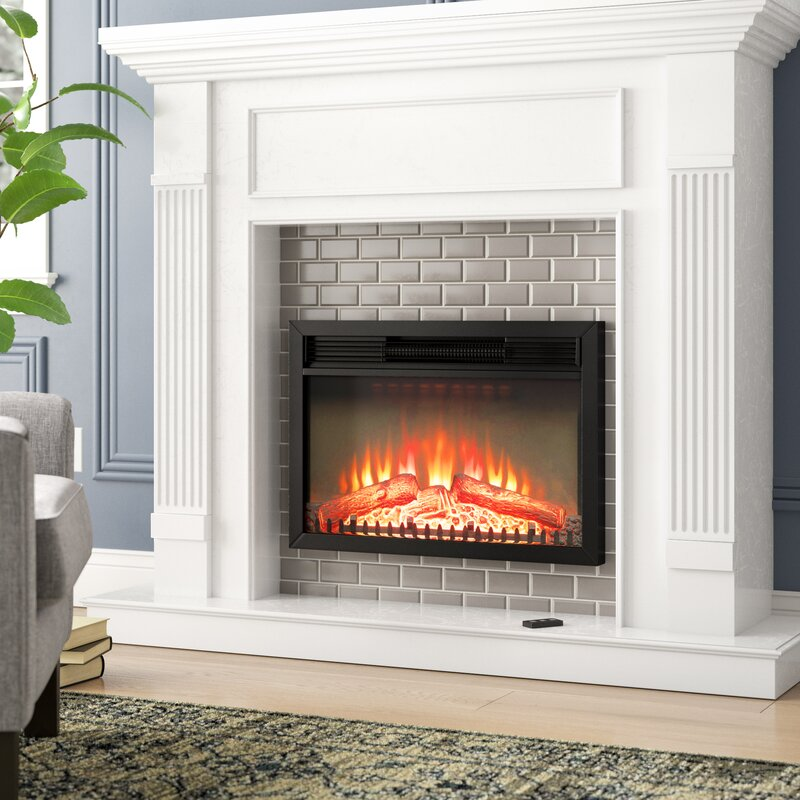 Charlton Home Gilcrease Electric Fireplace Insert Reviews Wayfair