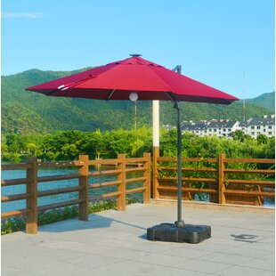 Brayden Studio Rinker Lighted 10' Cantilever Umbrella