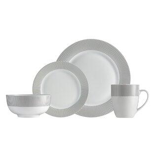 Bairdford Line 16 Piece Dinnerware Set, Service for 4