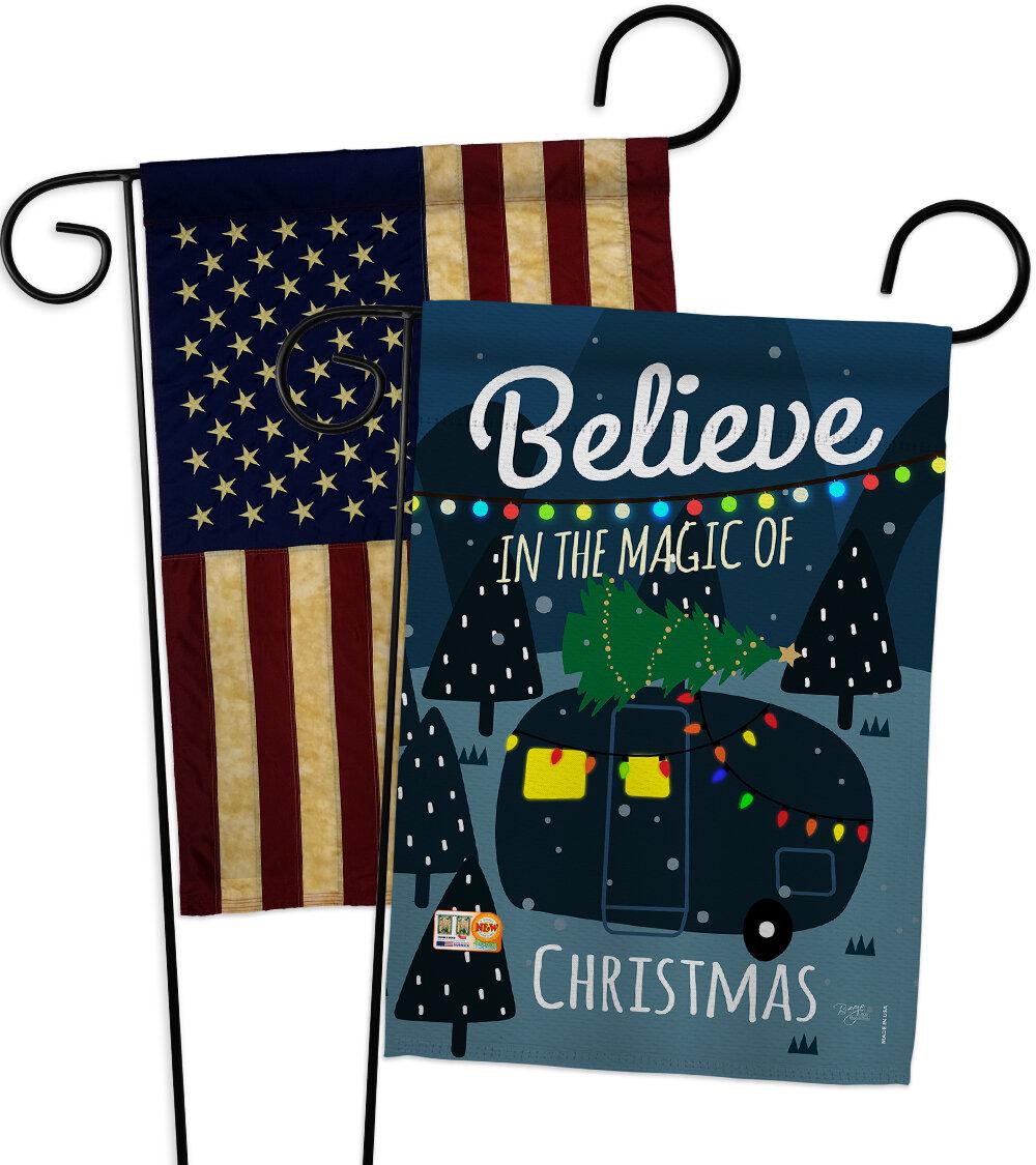 Breeze Decor 2 Piece Believe The Magic Trailer Impressions Decorative 2 Sided Polyester 19 X 13 Garden Flag Set Wayfair