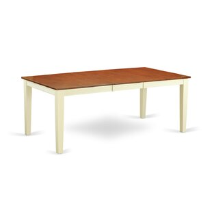 Loraine Extendable Solid Wood Dining Table Red Barrel Studio