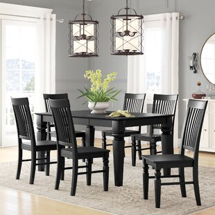 Beesley 7 Piece Drop Leaf Solid Wood Dining Set DarHome Co