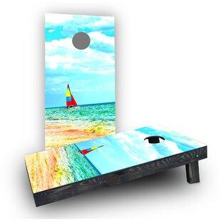 Custom Cornhole Boards Boat Beach Cornhole Boards (Set of 2)