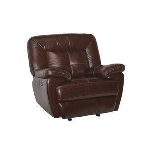 Rhymes Leather Manual Recliner by Canora Grey