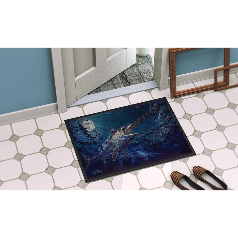 Breakwater Bay Ferdinand Prince Of Darkness Swordfish 36 In X 24 In Non Slip Outdoor Door Mat Wayfair