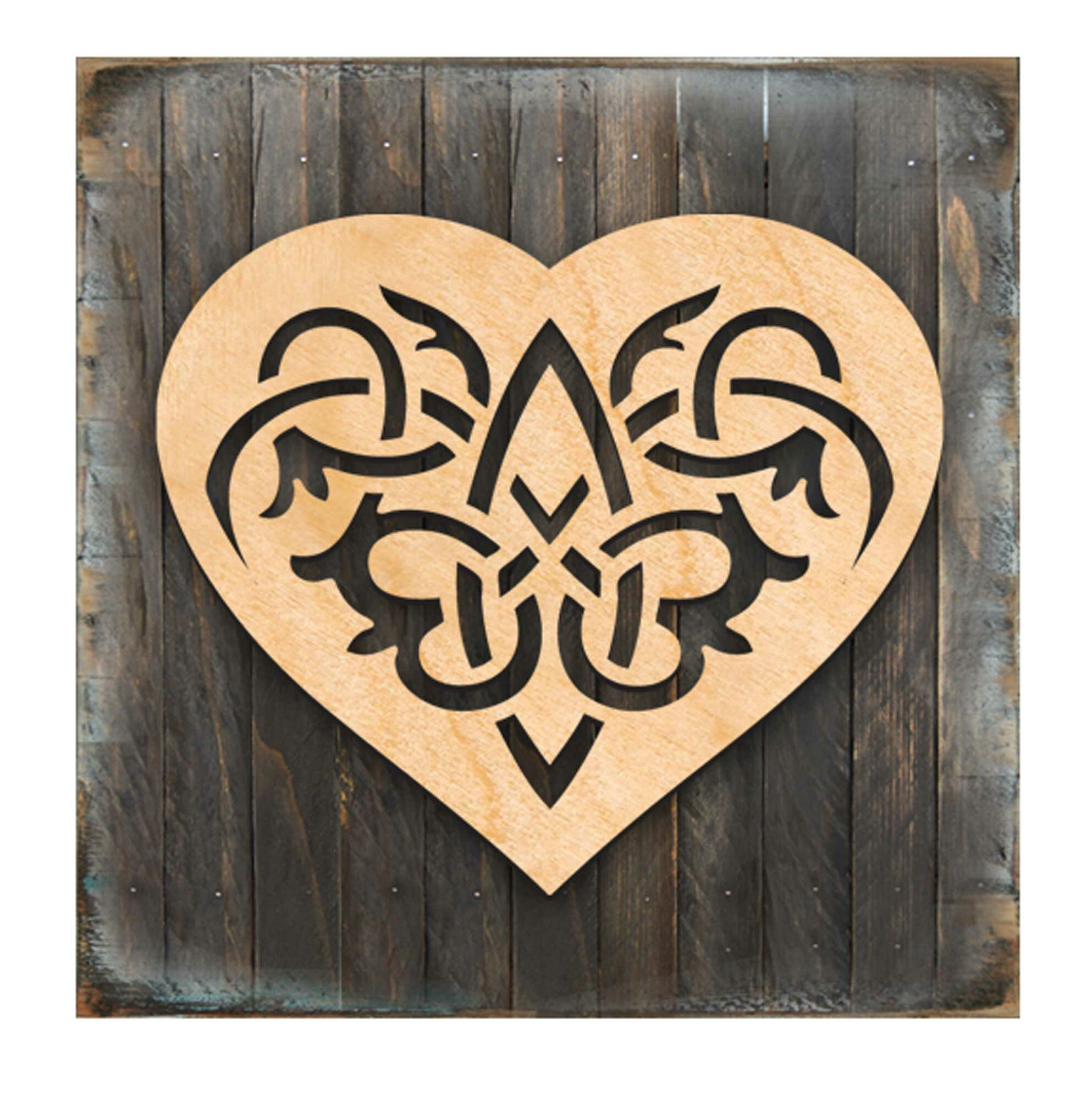 Celtic Spiral Heart Wall Decor