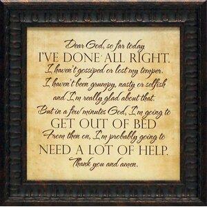 Prayer' Framed Textual Art