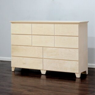 Gothic Furniture Flat Shaker 10 Drawer Dresser
