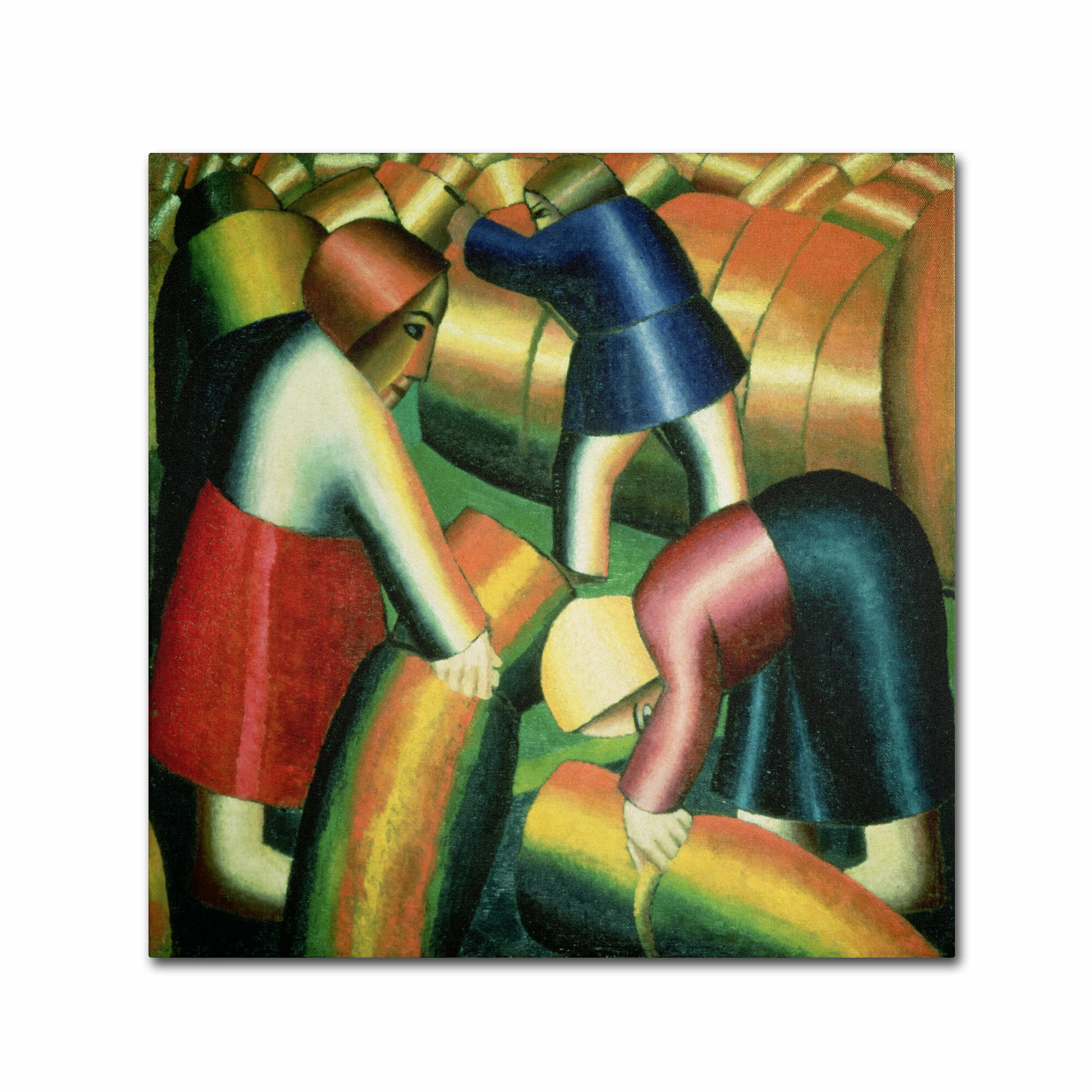 Trademark Art Taking In The Rye 1912 By Kazimir Malevich Painting Print On Wrapped Canvas Wayfair