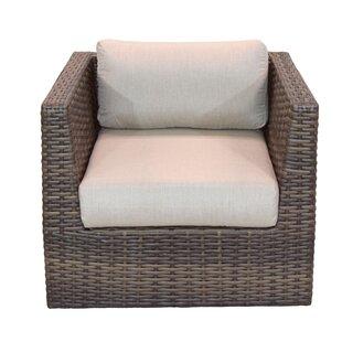 Cribbs Patio Chair with Sunbrella Cushions by Highland Dunes