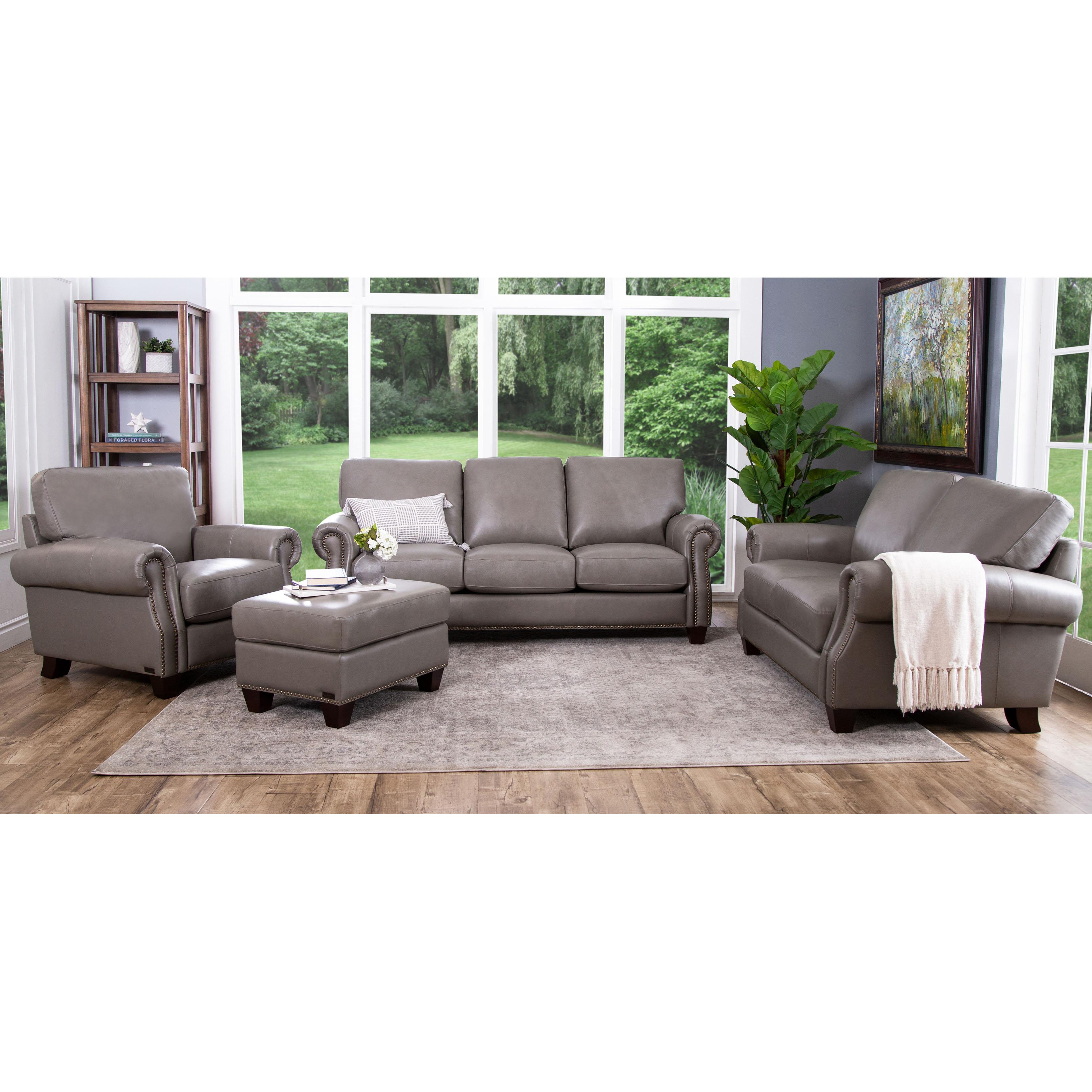 Three Posts Whipton 4 Piece Leather Living Room Set & Reviews | Wayfair