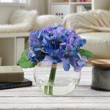 Faux Silk Hydrangea Floral Arrangement