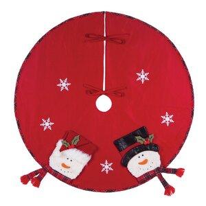 Snowflakes Snowman Tree Skirt
