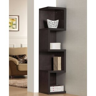Luebke Wooden Corner Unit Bookcase by Wrought Studio