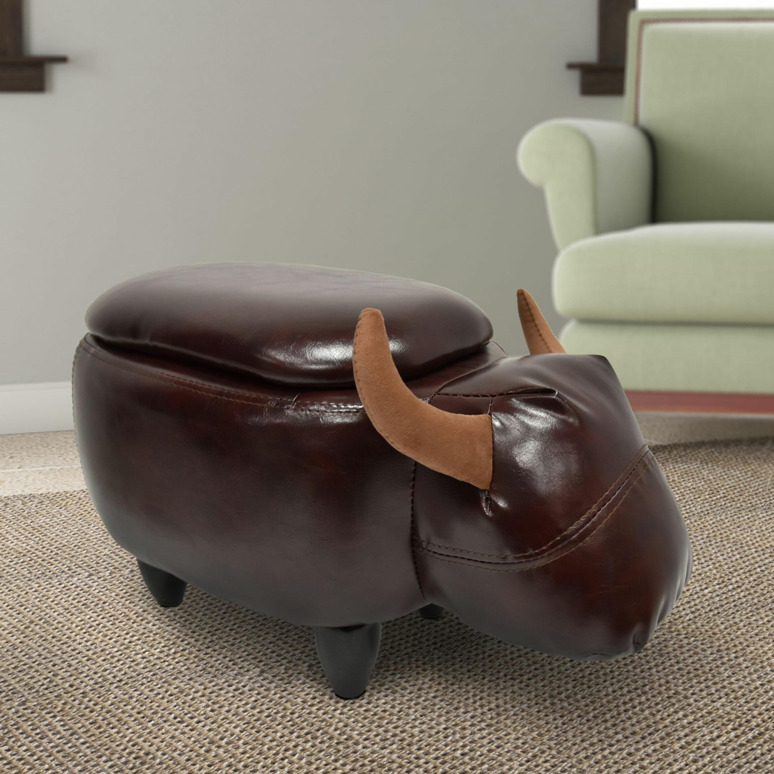 Peachy Whitmer Cow Shaped Storage Ottoman Theyellowbook Wood Chair Design Ideas Theyellowbookinfo