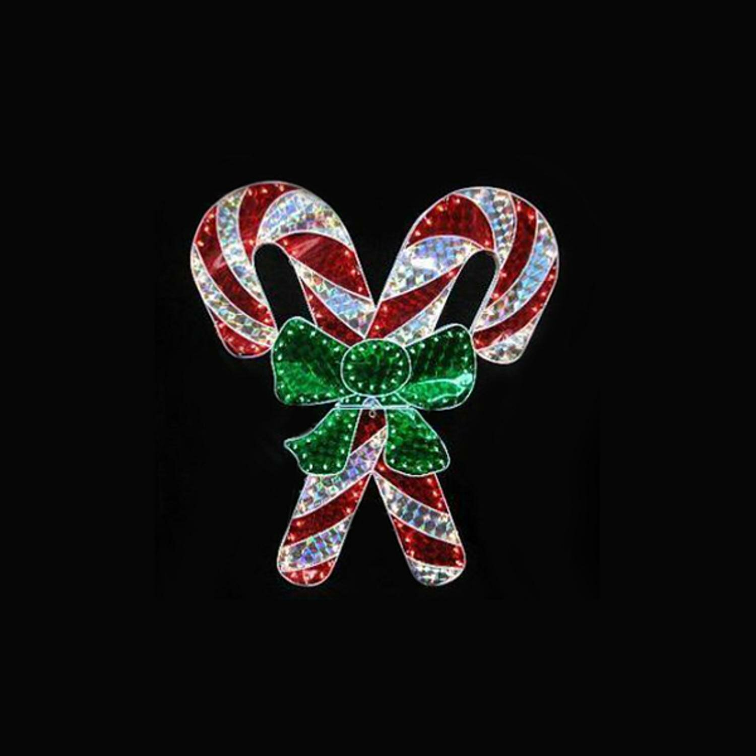 The Holiday Aisle Holographic Double Candy Cane Christmas Lighting