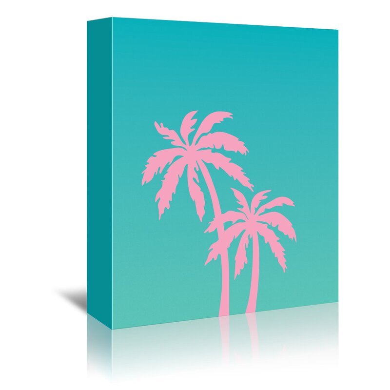 Wrought Studio Palm Tree Graphic Art On Wrapped Canvas Wayfair