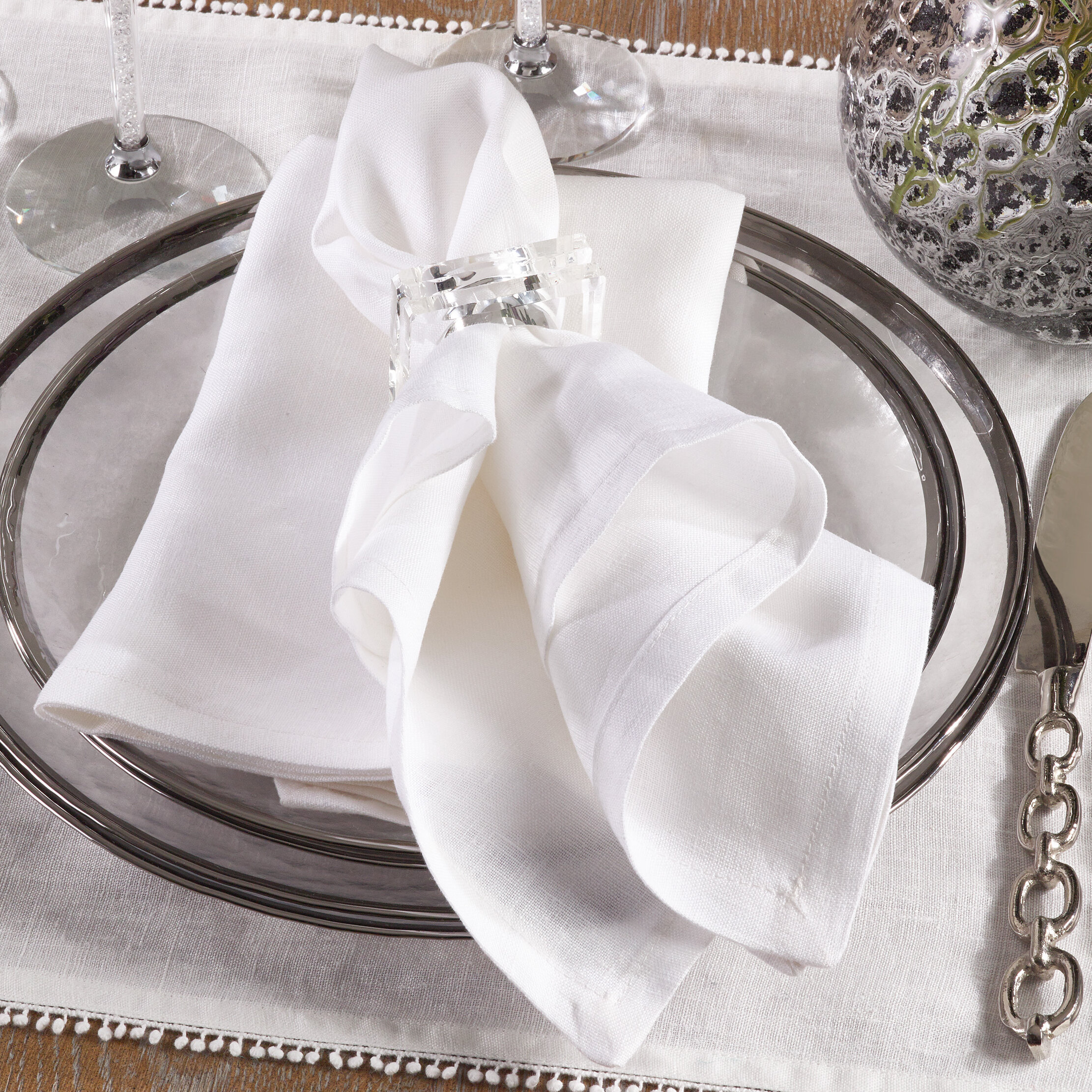 Alcott Hill Falk Classic Basic Linen Dinner 20 Napkin Wayfair