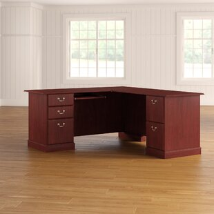 Cowdray Solid Wood L-Shaped Computer Desk