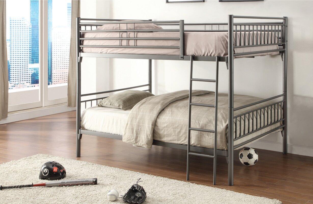 viv rae josefa full bunk bed reviews wayfair. Black Bedroom Furniture Sets. Home Design Ideas