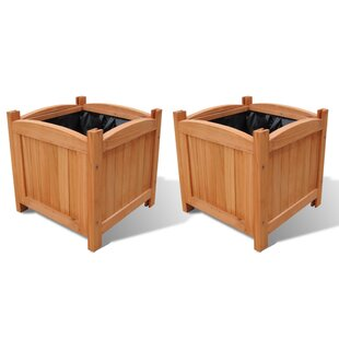 Wooden Planter Box (Set Of 2) By Freeport Park