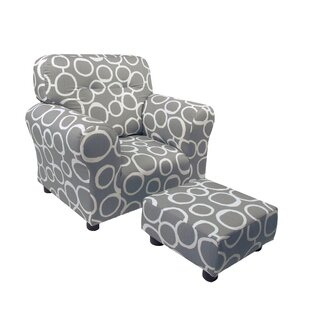 Low priced Dawley Kids Cotton Chair and Ottoman By Harriet Bee