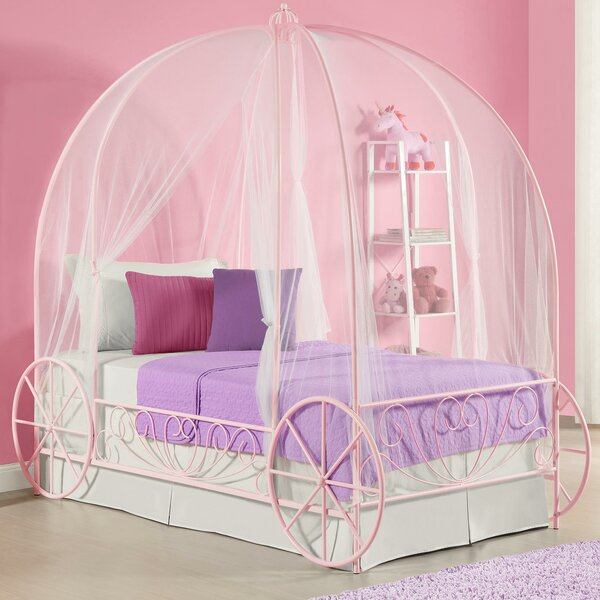 Canopy Bed zoomie kids brandy twin canopy bed & reviews | wayfair