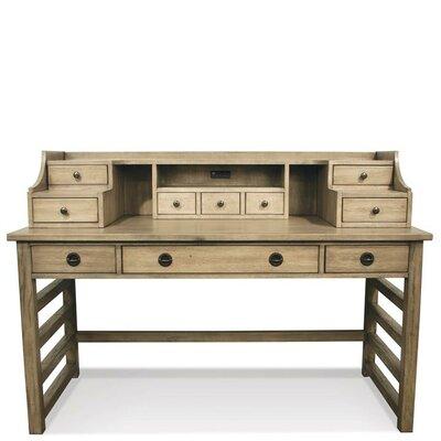 ArbyrdLeg Secretary Desk With Hutch Color: Sun-Drenched Acacia by Greyleigh