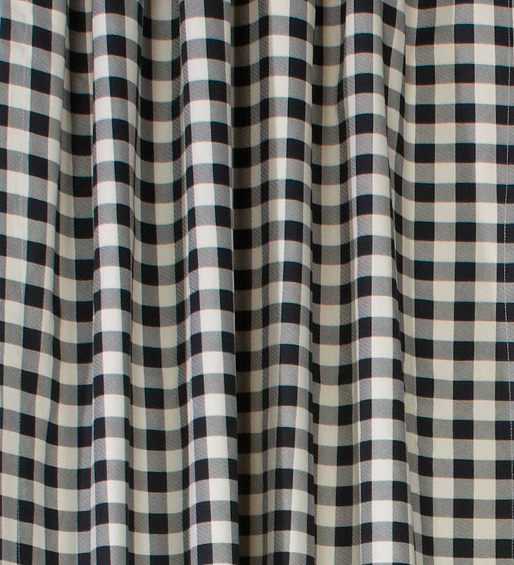 Plow Hearth Checked Grommet Tie Up Single Curtain Panel