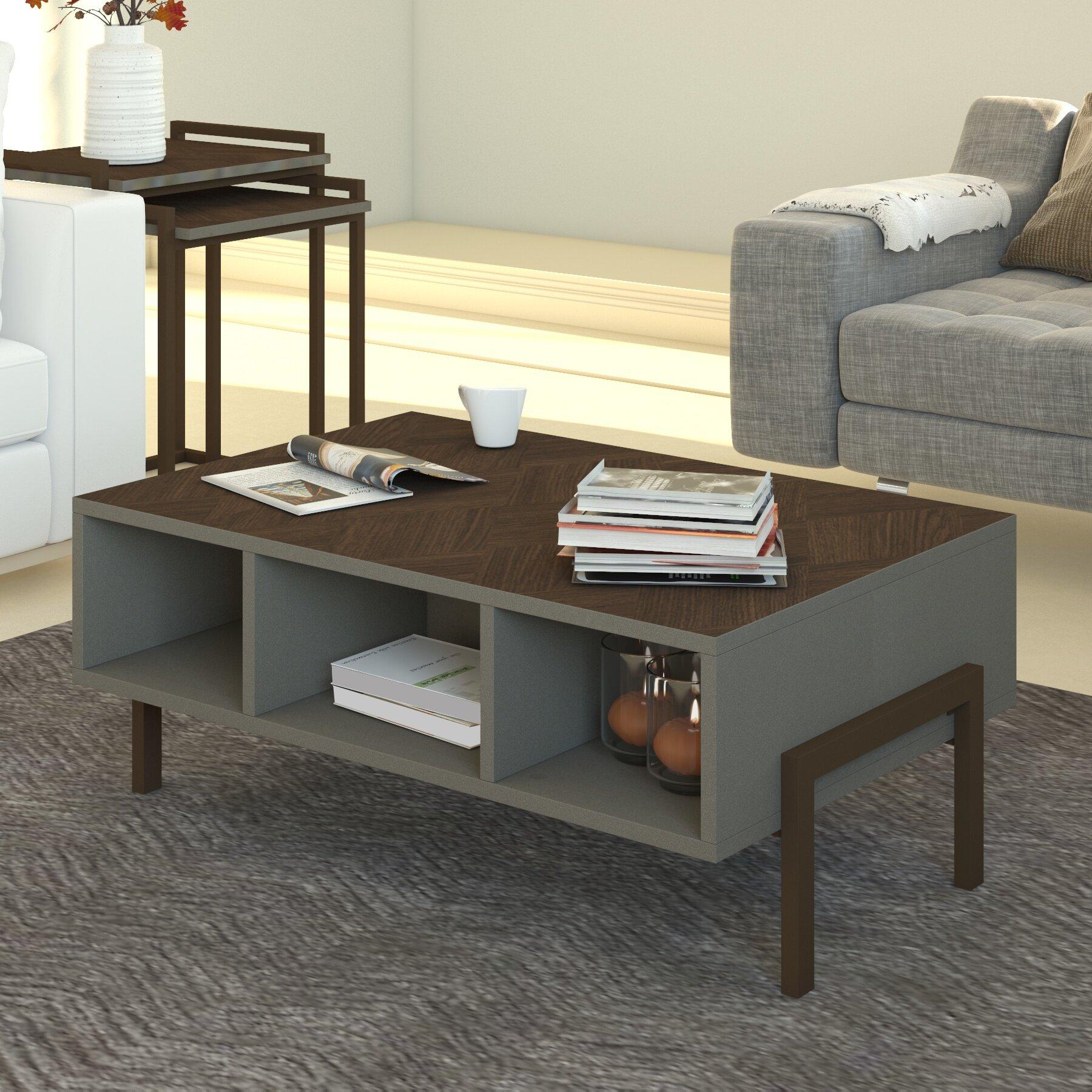 Ebern Designs Woodcock 3 Piece Coffee Table Set Reviews Wayfair