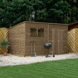 Mccaffrey 12Ft W X 7Ft D Solid Wood Garden Shed By Sol 72 Outdoor