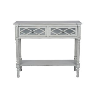 Lawler Mirrored Pinewood Console Table