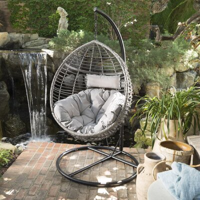 Delicieux Weller Outdoor Wicker Basket Swing Chair With Stand